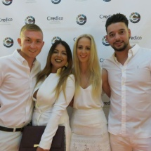 Alpha Gamma Solutions attend white party